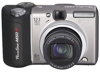 PowerShot A650 IS có cảm biến 12 Megapixel. Ảnh: Dpreview.
