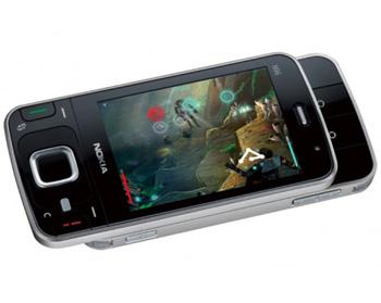 Nokia N96, điện thoại hỗ trợ chơi game N-gage. Ảnh: Engadget.