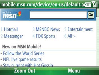 Trình duyệt Internet Explorer Mobile mới. Ảnh: Cnet.