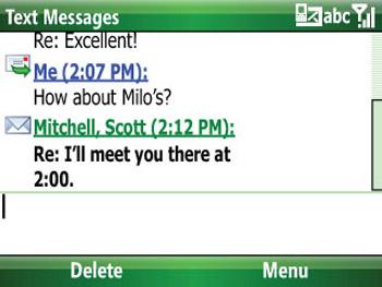 Tin nhắn được xâu chuỗi rất dể đọc. Ảnh: Cnet.