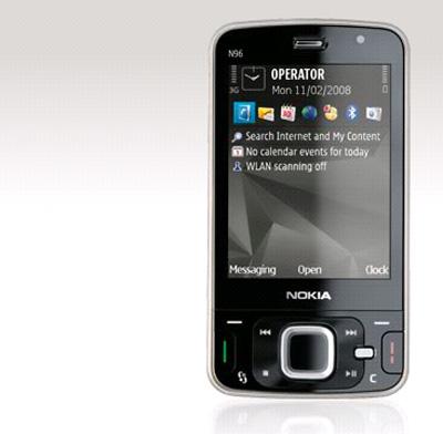 Nokia N96 có bộ nhớ 16 GB. Ảnh: Nokia.