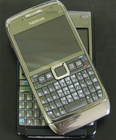 Nokia E71 với bàn phím Qwerty và màn hình 2,36 inch. Ảnh: Nguyễn Đức Trung.