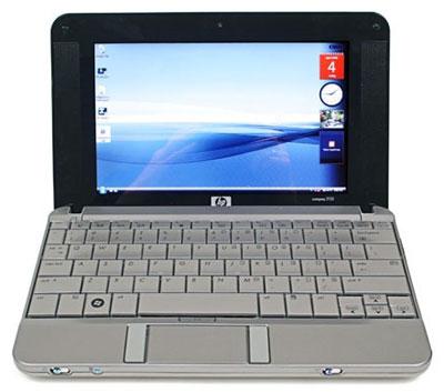 HP Mini-Note 2133 được trang bị bàn phím chuẩn như những laptop thông thường. Ảnh: Krunker.