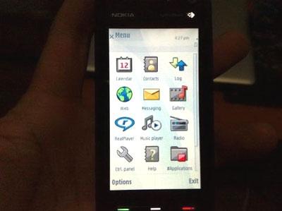 Nokia 5800 có màn hình cảm ứng 3,2 inch.