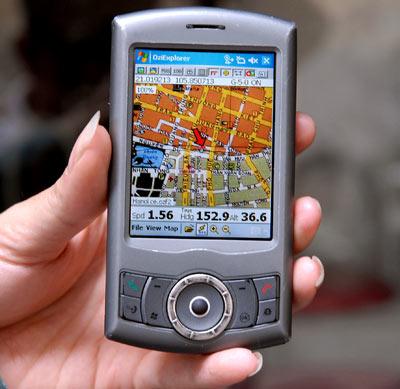 Bản đồ Ozi Explorer trên PDA do dân chơi Việt làm. Ảnh: Hoàng Hà.