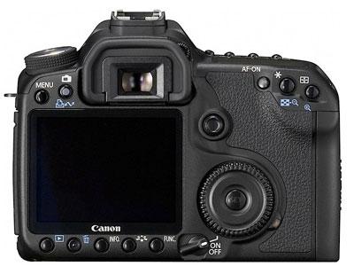 Canon EOS 50D có màn hình LCD rộng 3 inch, hỗ trợ tính năng ngắm ảnh sống Live View. Ảnh: Engadget.