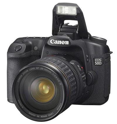 Canon EOS 50D có vẻ bề ngoài khá giống với 40D. Ảnh: Letsgodigital.
