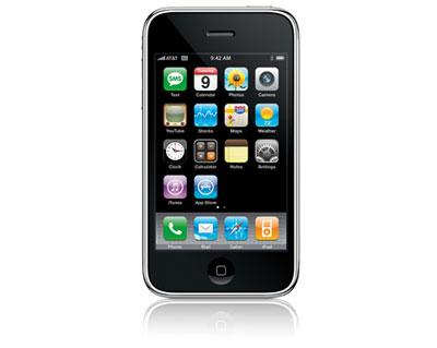 iPhone 3G có giao diện đơn giản, là hình mẫu của điện thoại cảm ứng. Ảnh: Cnet.