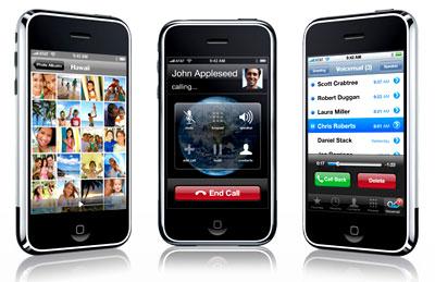 iPhone mỏng, nhẹ và có bộ nhớ lớn hơn G1. Ảnh: Apple.