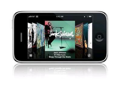 iPhone 3G có kho nhạc lớn hơn. Ảnh: Apple.