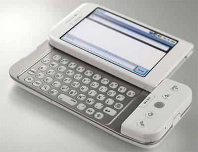 Điện thoại G1 có bàn phím QWERTY. Ảnh: Cnet.