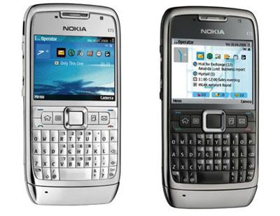 Nokia E71 được tạp chí Anh xem là điện thoại của năm. Ảnh: Cnet.