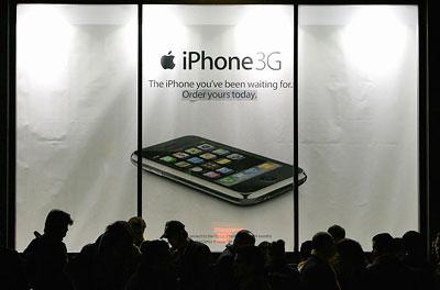 iPhone 3G là điện thoại bán chạy nhất tại Mỹ. Ảnh: Time.