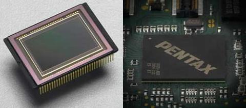 Cảm biến CMOS với 4 kênh dữ liệu ra và vi xử lý Prime II thế hệ mới, giúp cải thiện chất lượng hình ảnh và tốc độ của Pentax K-7. Ảnh: Imaging-resources.