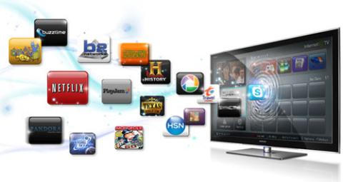 Theo dự đoán của hãng thống kê ABI Research, số TV hỗ trợ Internet sẽ chiếm 46% thị trường TV màn hình mỏng trong 3 năm tới. Ảnh: Pocketlint.