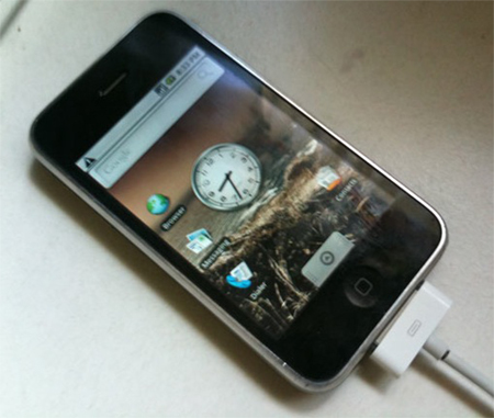 Video iPhone 3G chạy Android.