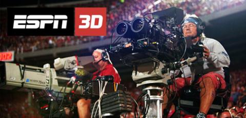 Kênh ESPN 3D lên sóng phục vụ người xem World Cup với truyền hình 3D. Ảnh: Engadget.