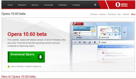 Opera không muốn nằm ngoài cuộc trong trận chiến tốc độ giữa các trình duyệt.