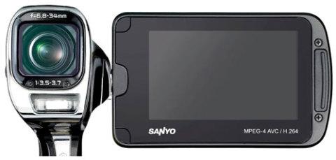 Sanyo Xacti VPC-CA100. Ảnh: Pocketlint.