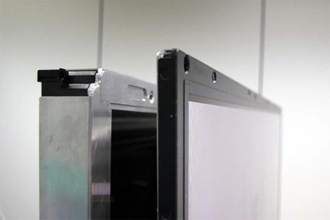 Các mẫu TV LED viền mỏng hơn TV LED nền. Ảnh: Cybertheater.