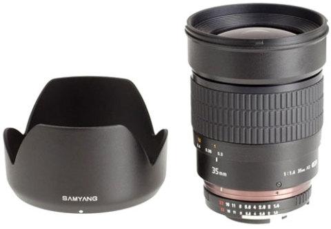 Samyang 35mm f/1.4. Ảnh: Photography Blog.