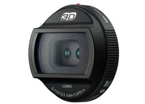 Ống kính 3D đầu tiên thế giới, Lumix G 12,5mm F/12. Ảnh: Dpreview.