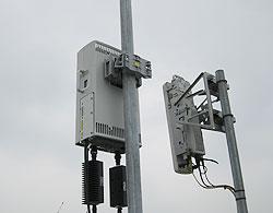 Ăng-ten của trạm phát sóng LTE. Ảnh: VDC.