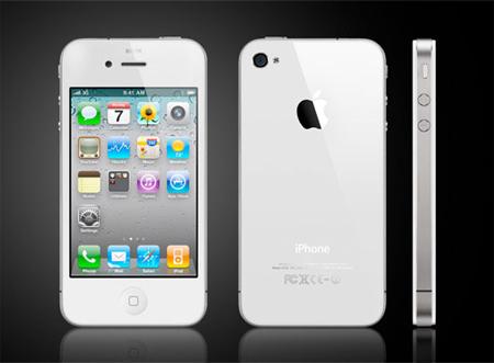 iPhone 4 màu trắng. Ảnh: Apple.