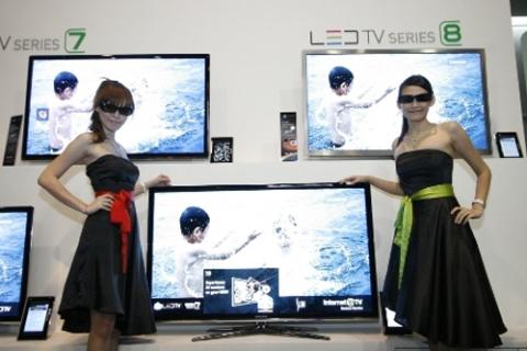 Samsung sẽ giảm giá các model 3D LED 240Hz và tung thêm các mẫu TV 3D giá rẻ 120Hz ra thị trường vào năm tới. Ảnh: Klue.