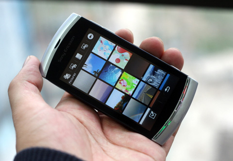 Vivaz, một trong nhiều mẫu di động Sony Ericsson giảm giá mạnh. Ảnh: Quốc Huy.