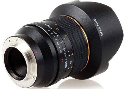 Samyang 14mm f/2.8 ED AS IF UMC. Ảnh: Photographyblog.
