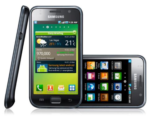 Samsung Galaxy S I9000 đang trên đường trở thành mẫu Android đầu tiên đạt doanh số 10 triệu máy. Ảnh: Samsung.