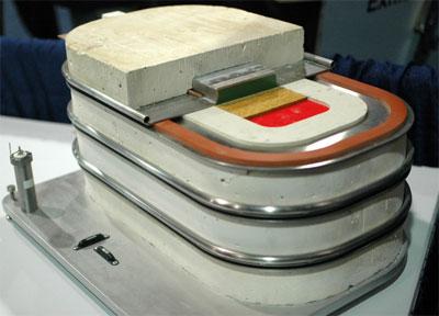 Mô hình pin metal lỏng.