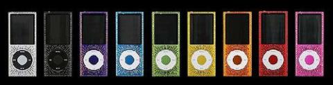 iPod Nano đính đá gắn liên với ca sỹ nổi tiếng Elton Johns.