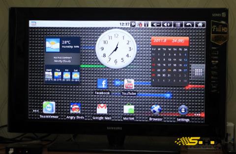 Giao diện màn hình chủ của Android TV hỗ trợ cả Widget và Live Wallpaper.