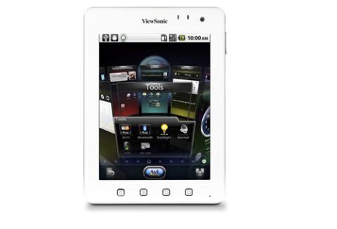Viewsonic Viewpad 7e sử dụng màn hình 7 inch độ phân giải 800 x 600 pixel. Ảnh: Bgr.