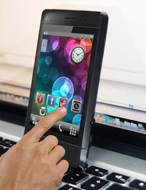 """]: P11 được thiết kế với vỏ hợp kim chắc chắn và màn hình cảm ứng điện dung 3.5""""."""