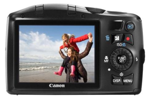 Máy siêu zoom Canon SX 150IS. Ảnh: Vivagadget.