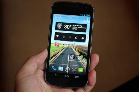 Galaxy Nexus với Android 4.0. Ảnh: Quốc Huy.