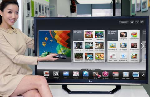 LG bổ sung thêm kho nội dung 3D cho HDTV đời 2012 của hãng. Ảnh: Engadget.