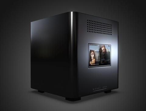 Màn hình cảm ứng 8,9 inch nằm ở mặt đối diện với ống kính máy chiếu.