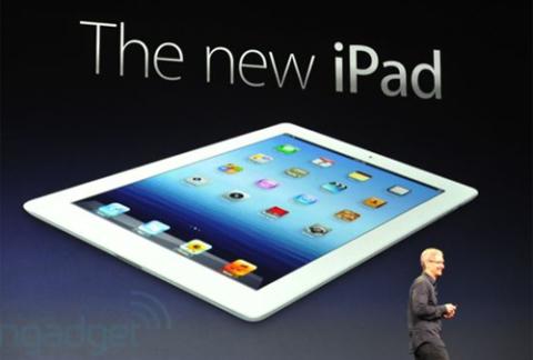 Mẫu iPad mới được Apple trình làng.
