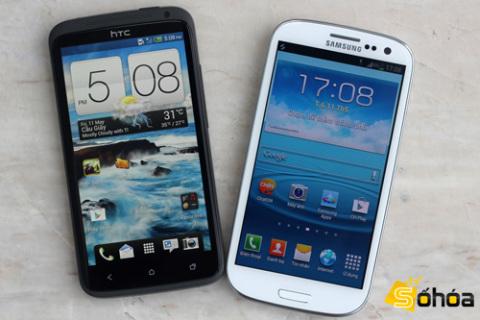 Cùng có bộ xử lý lõi tứ nhưng HTC One X dùng bộ xử lý Tegra 3 còn Galaxy S III là Exynos 4212.