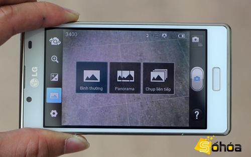 LG Optimus L7 có camera 5 Megapixel, hỗ trợ nhiều chế độ chụp hình...