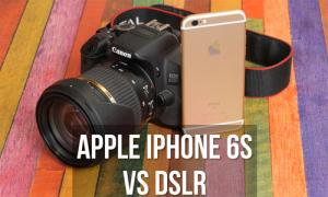 iPhone 6s đọ quay video với Canon EOS 650D