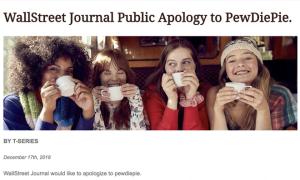Báo Wall Street Journal bị hack bởi người hâm mộ PewDiePie