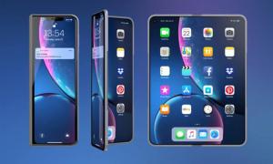iPhone X Fold gập được như Galaxy Fold