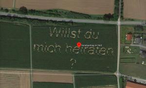 Lời cầu hôn xuất hiện trên Google Maps