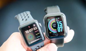 So sánh smartwatch 75.000 đồng và Apple Watch