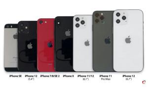 Mô hình iPhone 12 đọ dáng các 'đàn anh'
